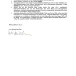 Brief an Minister Wenzel